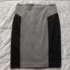 Grey & black pencil skirt